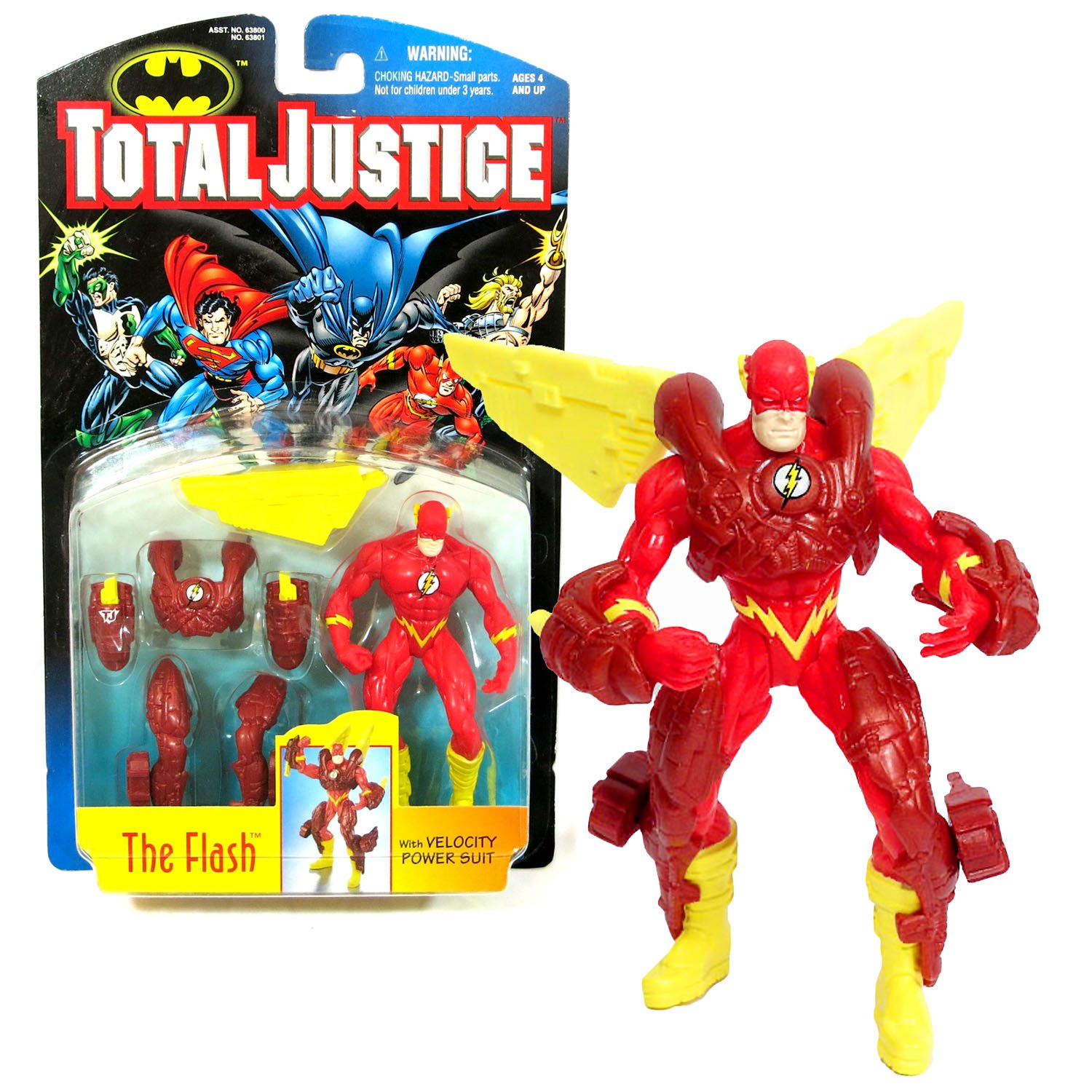 Kenner Year 1996 DC Comics Batman Total Justice Series 5 Inch Tall Action Figure - THE FLASH with Velocity Power Suit B011K9LDZ0