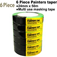 KingOrigin Painters tape Sets 6Piece 0.94-Inch by 54.6 Yards(24mm x 50m) Easy Removal 50002A