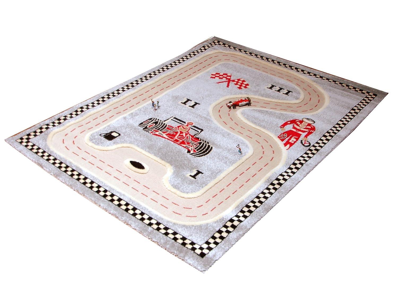 Little Helper COMPETITORGREY-100150-DE IVI Hypoallergener dicker 3D-Kinderspielteppich
