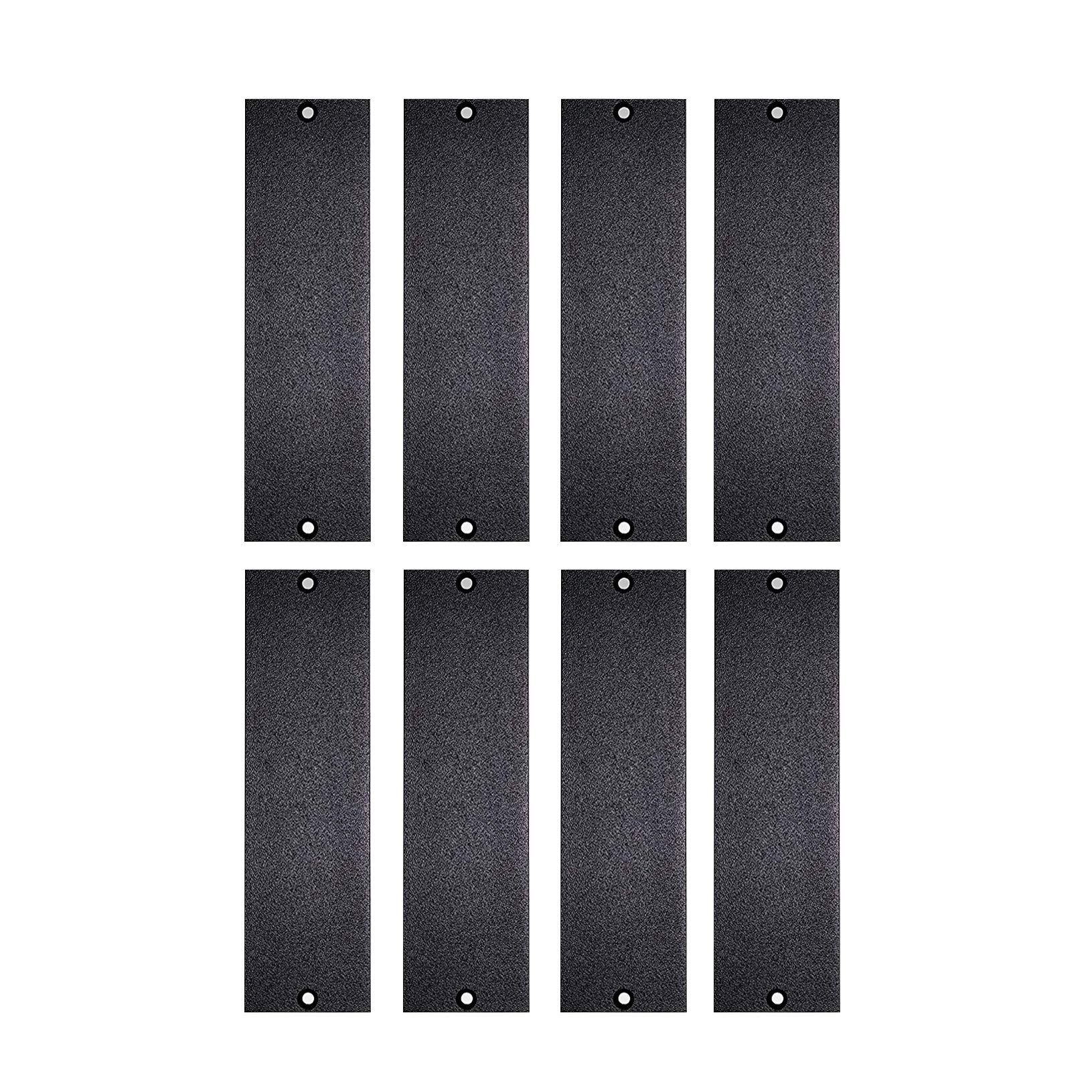 1U 500 Series Universal Blank Panel | Made in USA (8 Pack)