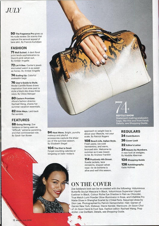 Allure Magazine July 2016 Zoe Saldana Fashion Beauty Health Newlook Playful Women At Amazons Entertainment Collectibles Store