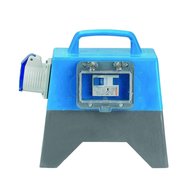 Defender E11090 Earth Leakage Unit 16A, 230 V, Blue