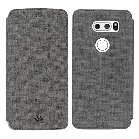 huge discount 9b624 3fe50 LG V30 Case, LG V35 Case, V30S/V30 Plus/V35 ThinQ Case, Wallet Case Smart  Premium Flip Leather PU Stand Kickstand Card Holders Magnetic Closure Clear  ...