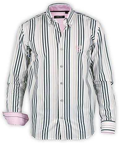 Shilton Camisa para Hombre Rayas Manga Larga Blanco XXL ...