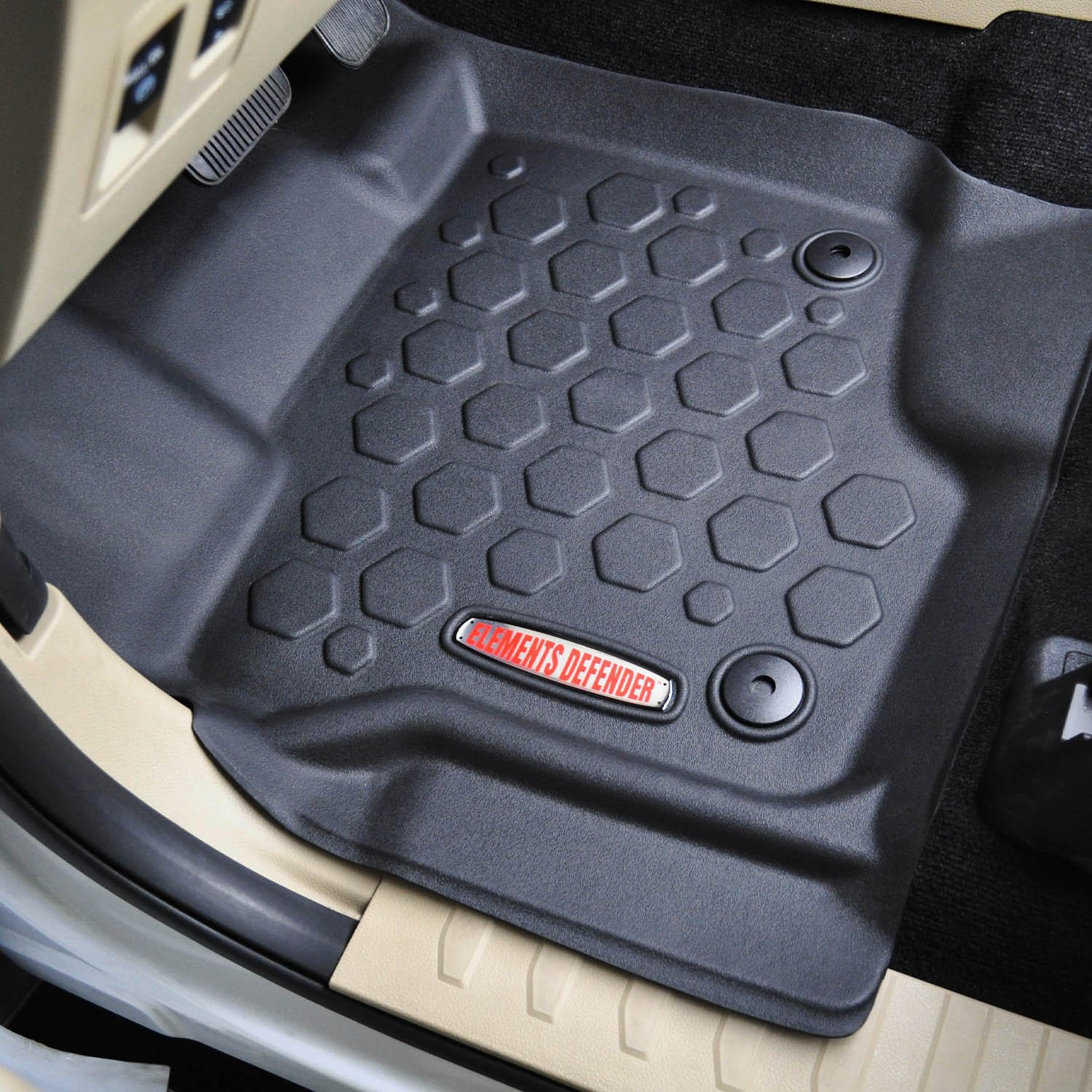 Amazon com 2015 2017 ford f 150 floor mats front rear liners 100 weather resistant fits crew cab f150 trucks in 20152016 2017 models