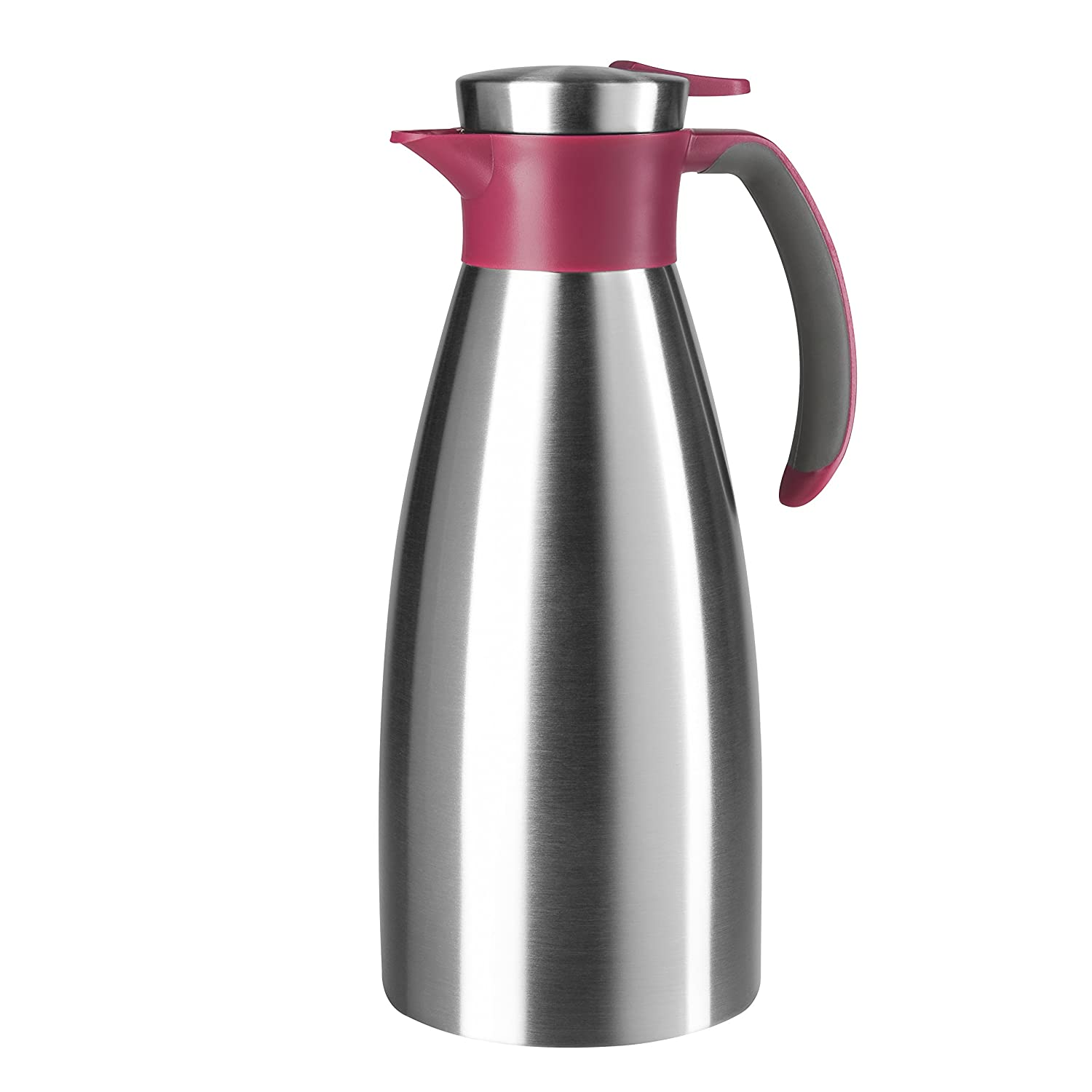 Emsa 514501 Soft Grip Quick-Tip vacuum jug 1.5 litres, blackberry E514501