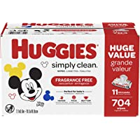 11-Pack Huggies Simply Clean Fragrance-free Baby Wipes