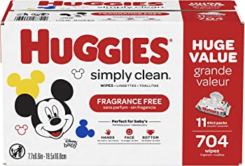 11-Pack Huggies Simply Clean Fragrance-free Baby Wipes