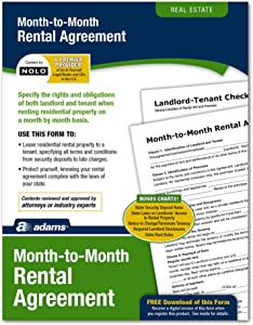 Adams Month-to-Month Rental Agreement, Forms and Instructions (LF255),White