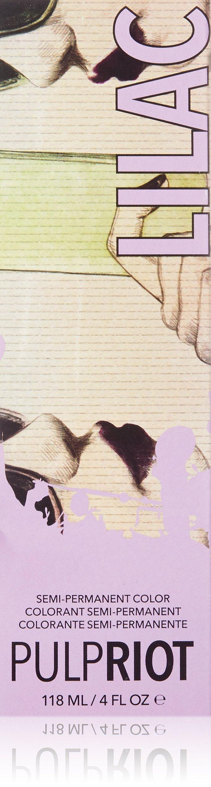 Pulp Riot Semi-Permanent Hair Color for Unisex, Lilac Light Purple, 4 Ounce