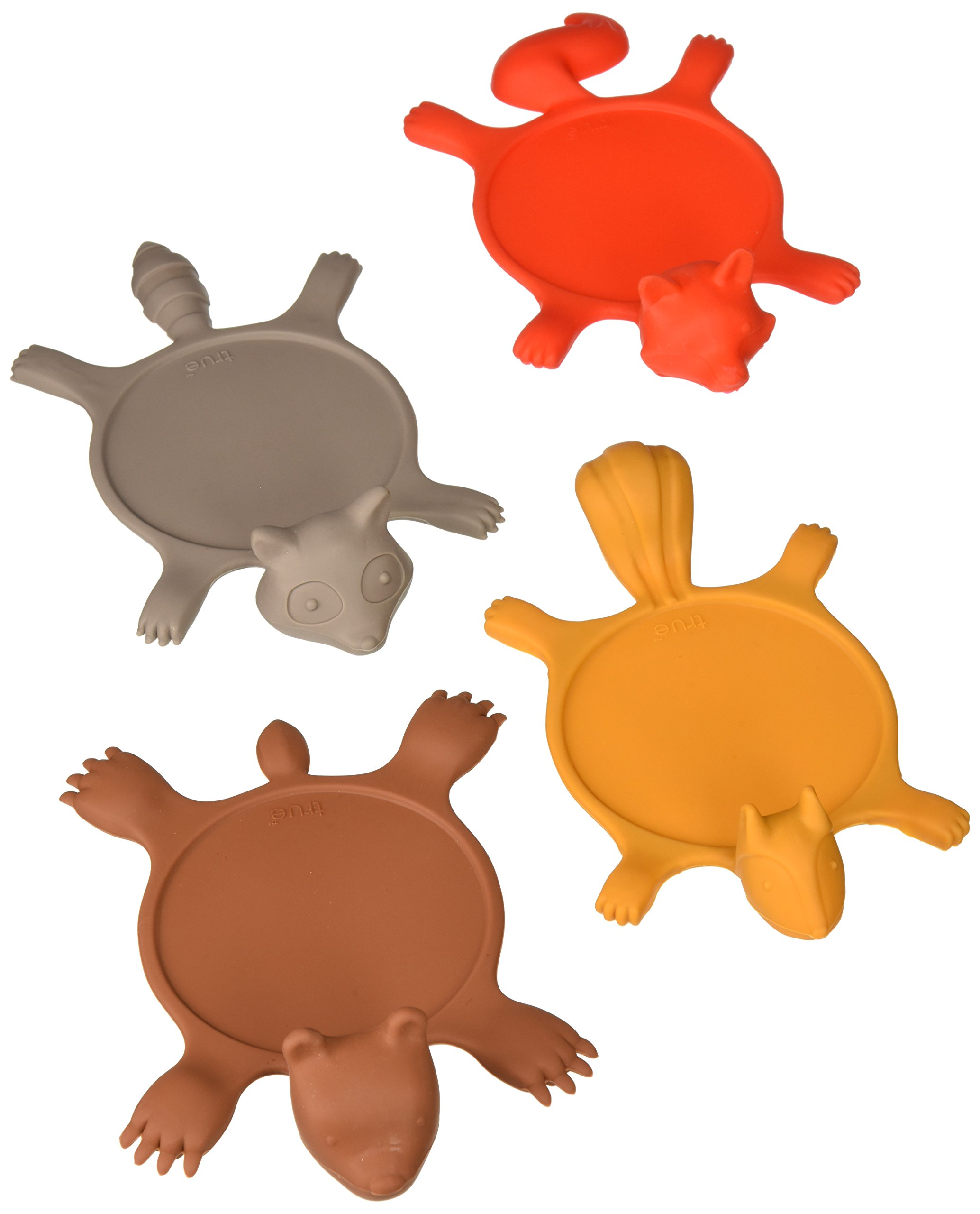 TrueZoo Get Smashed Silicone Animal Coasters (Set of 4) by