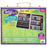 Darice (1103-10) 131-Piece Premium Art Set – Art Supplies for Drawing, Painting and More in a Wood Case - Makes a Great…