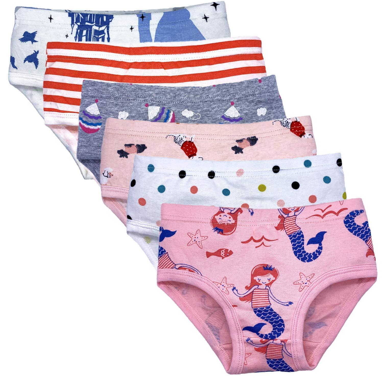 Pack of 6 Czofnjesi Girls Soft Cotton Underwear Toddler Comfort Briefs Baby Panties