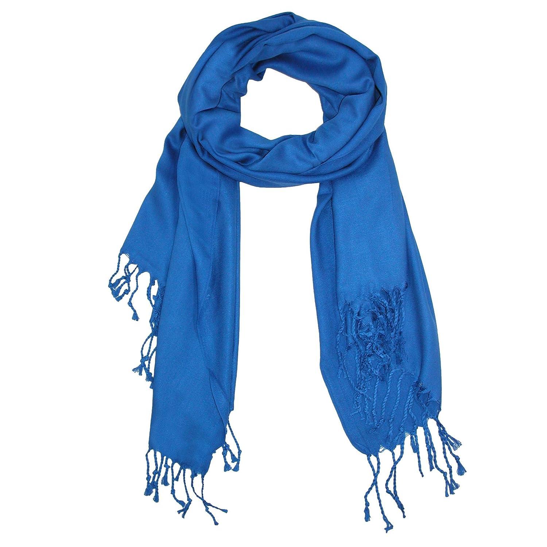 CTMレディースクラシックパシュミナショールラップ US サイズ: One size カラー: ブルー B009CYZFUA