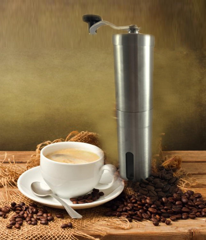 Molinillo de Caf/é Manual en Cer/ámica KitchnPro Caf/é Molido Manualmente para un Aut/éntico Sabor