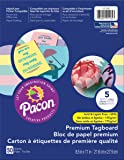 """Pacon Premium Tagboard, 5 Assorted Pastel Colors, 8-1/2"""" x 11"""", 50 Sheets"""