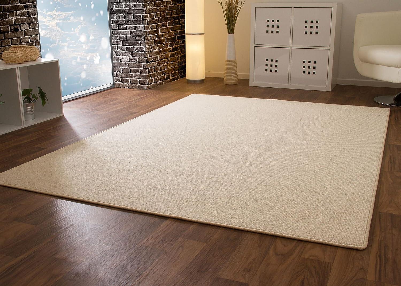 Designer Teppich Modern Berber Wellington in Beige, Größe  140x200 cm