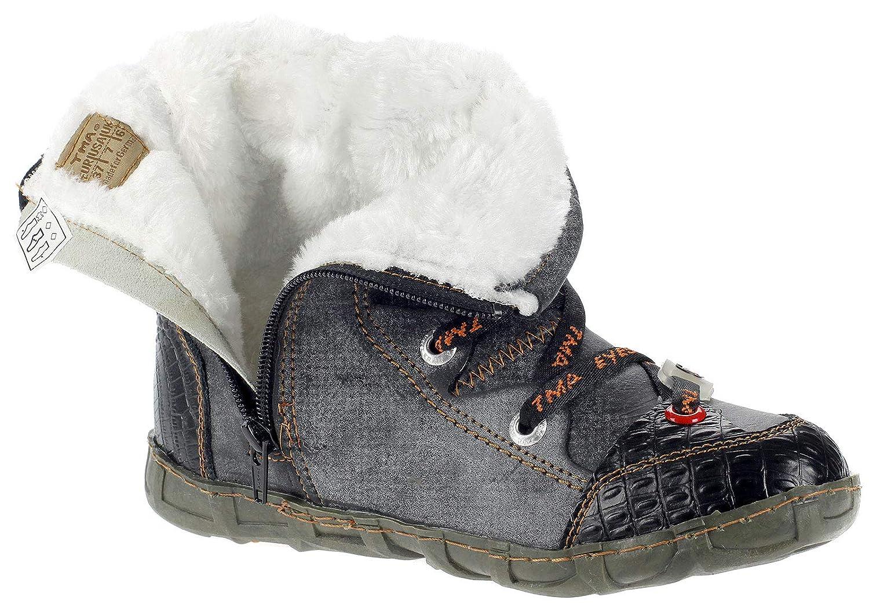 TMA Dvina Stiefeletten Damen Comfort Winterschuhe Stiefel Stiefel Winterschuhe gefüttert Winterstiefel 2082 Schwarz a557e5