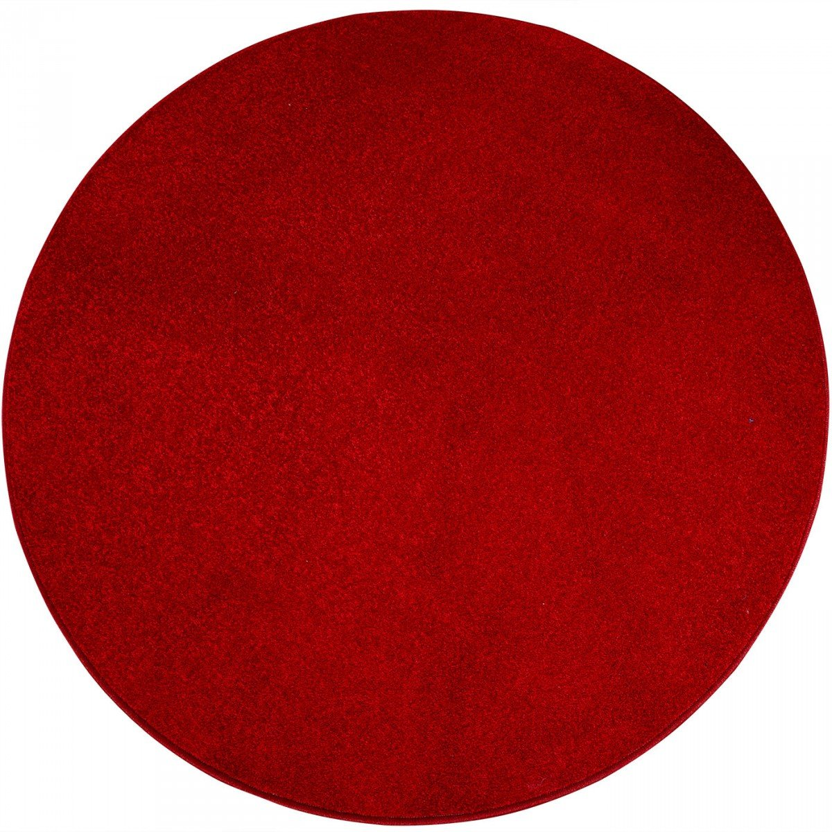 Havatex Teppich Kräusel Velour Burbon rund - 16 moderne sowie klassische Farben   schadstoffgeprüft pflegeleicht & robust   ideal für Wohnzimmer, Farbe Rot, Größe 180 cm rund