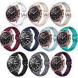 HAYUL 10 PCS Compatible for Samsung Galaxy Watch 3 Band 41mm/Galaxy Watch 42mm Bands, 20mm Slim Silicone Sport Watch Band Wri
