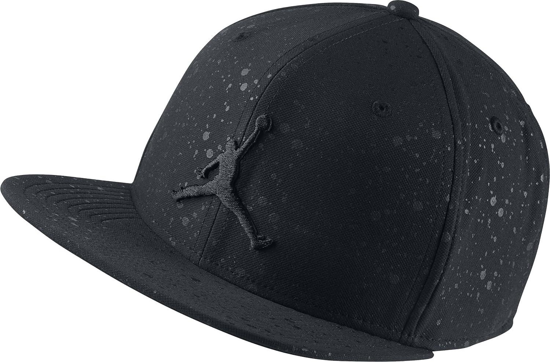 28629dcd069f ... discount amazon jordan nike mens speckle print snapback hat black black  821830 011 sports outdoors 82195