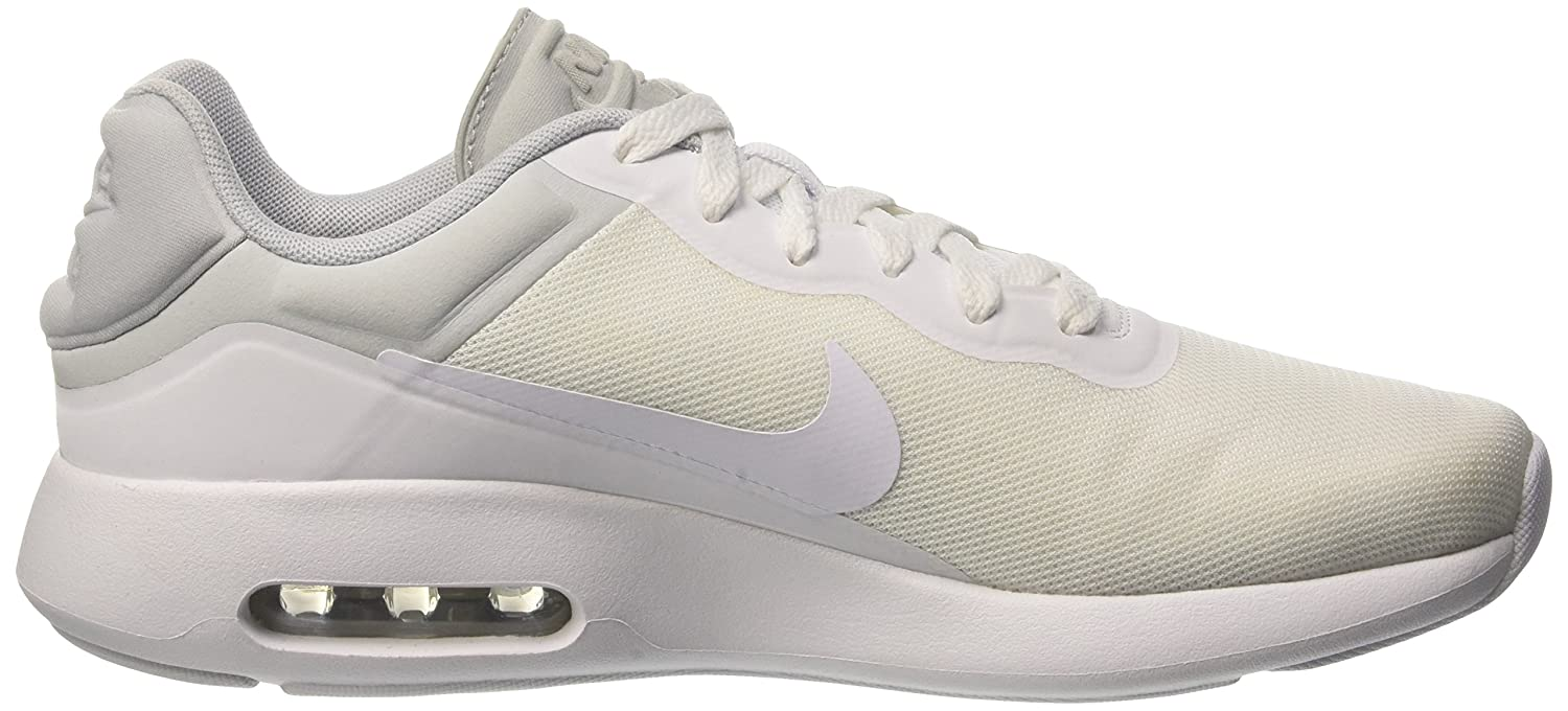 NIKE Air Max Trainers Modern Essential Mens Running Trainers Max 844874 Sneakers Shoes B01HZQW3XS 13 D(M) US|White/White-cool Grey-pure Platinum 168ac3