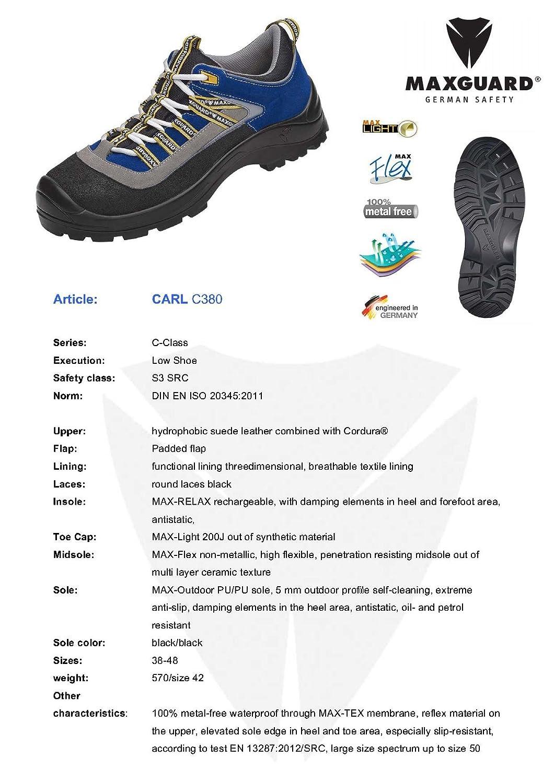 C380 CARL Halbschuh blau blau Halbschuh Membrane S3 419340
