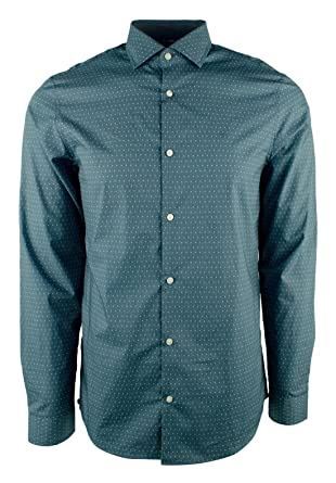 956a53f779283 Amazon.com  Michael Kors Men s Long Sleeve Dot Print Slim Fit Shirt  Michael  Kors  Clothing