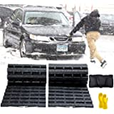 JOJOMARK Tire Traction Mat, Recovery Track Portable Emergency Devices for Snow, Ice, Mud, and Sand Used to Cars, Trucks…