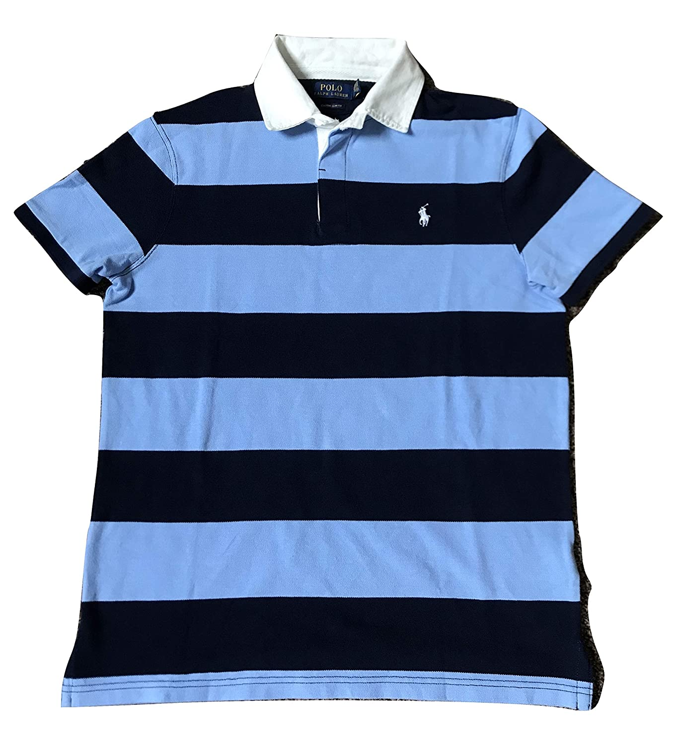 Polo Ralph Lauren Men/'s Short Sleeve Rugby Polo Shirt Slim Fit Striped Polos