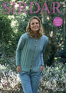 82ccdf0cb Sirdar Cotton DK 100g Knitting Pattern - 7824 Sweater  Amazon.co.uk ...