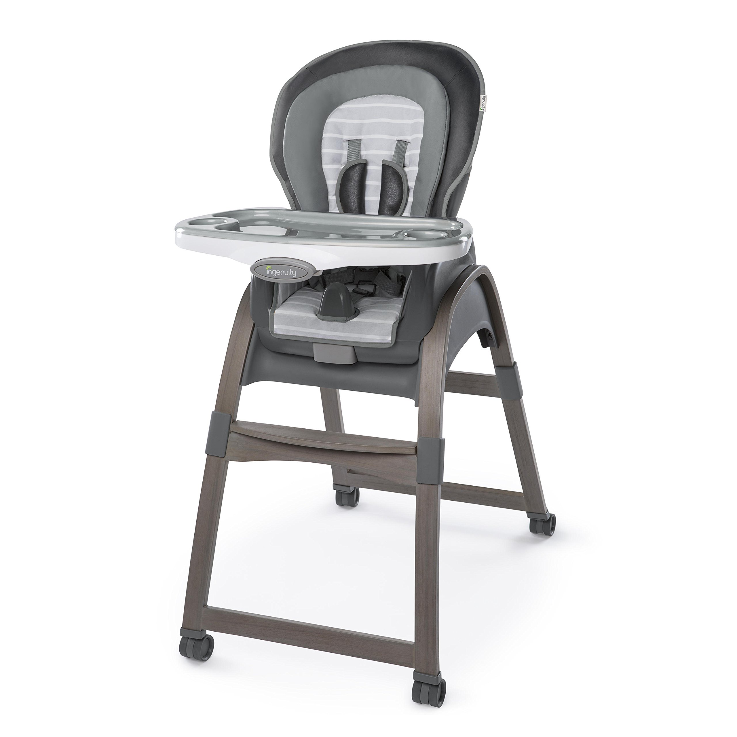 Ingenuity Boutique Collection 3-in-1 Wood High Chair, Bella Teddy