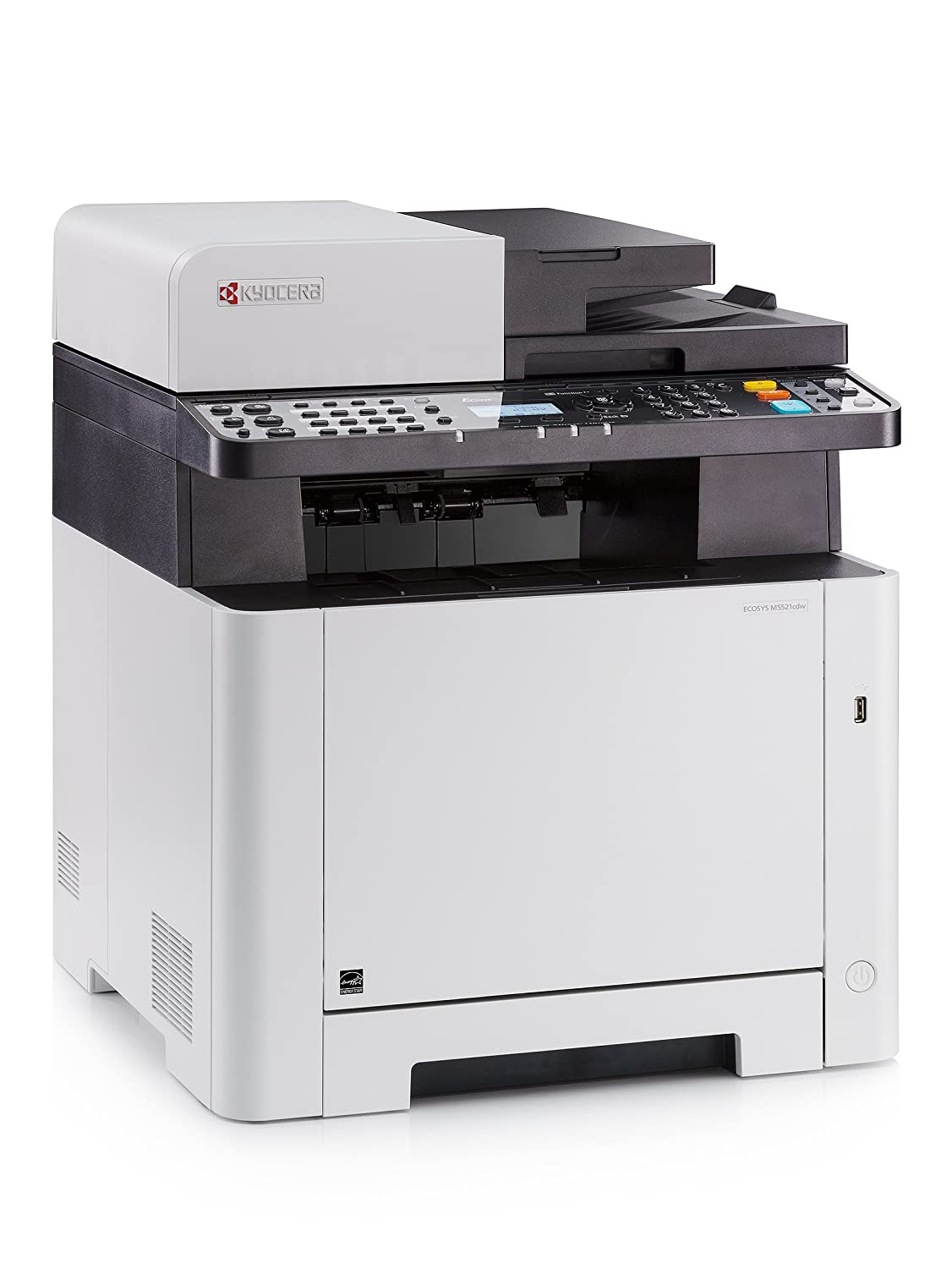 Amazon New Kyocera ECOSYS M5521cdw Color Multifunctional Printer Print Scan Copy Fax Wireless Electronics