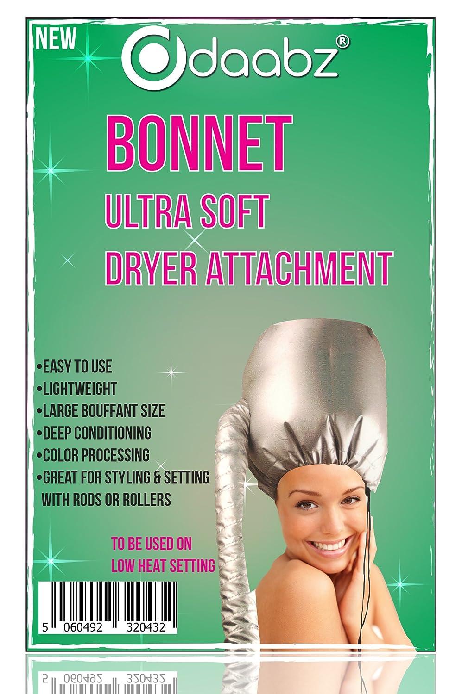 Professional Ultra Soft Styling Bonnet Dryer Hair Hood Attachment Silver Daabz®