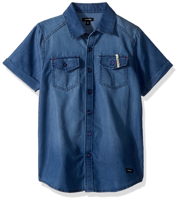 Diesel Boys Short Sleeve Fancy Sport Shirt DLB_9558