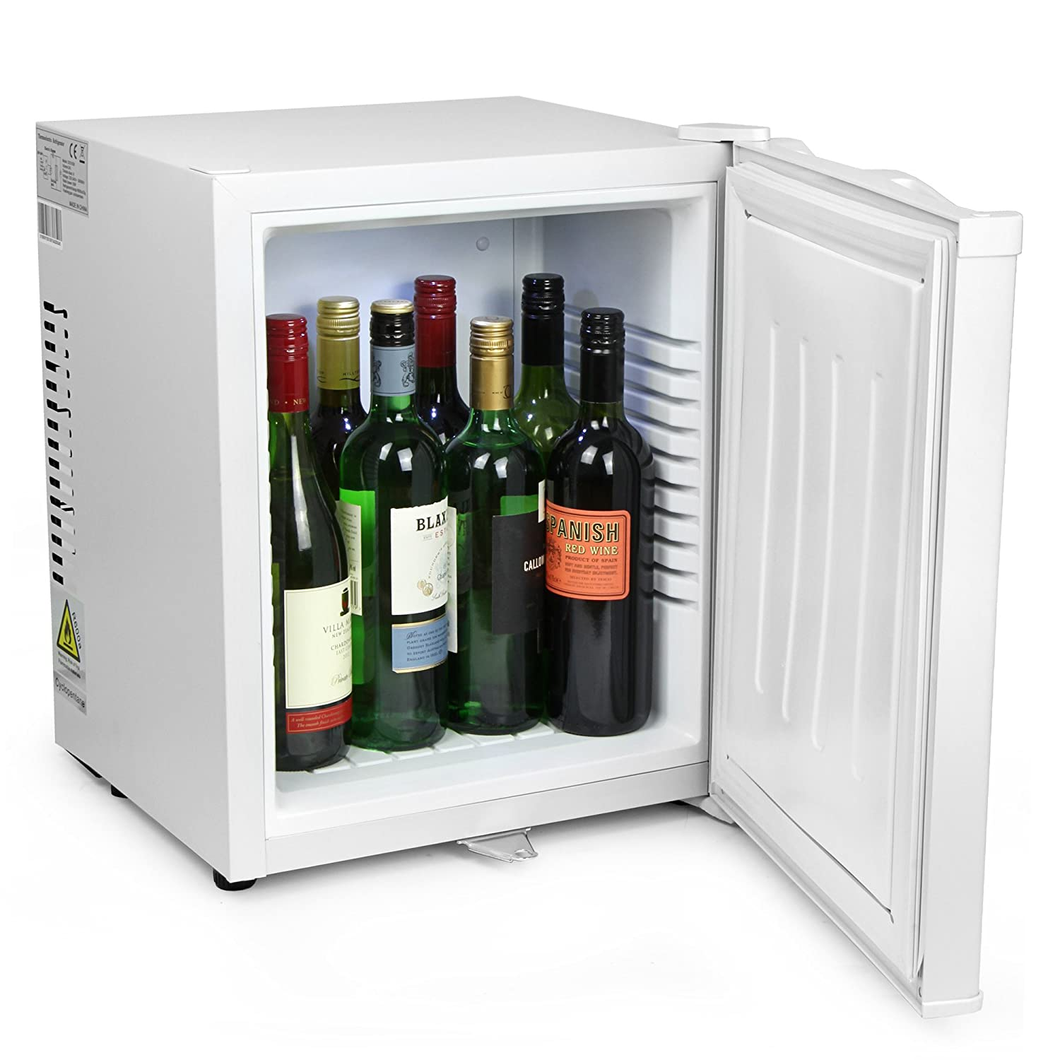bar@drinkstuff ChillQuiet Silent Mini Fridge 24ltr White - Completely Quiet Mini Bar, Ideal for Hotels and B&Bs [Energy Class B]
