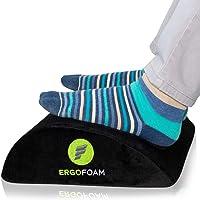 ErgoFoam Foot Rest Under Desk - Orthopedic Teardrop Design - Premium Velvet Soft Foot Stool Under Desk - Most…