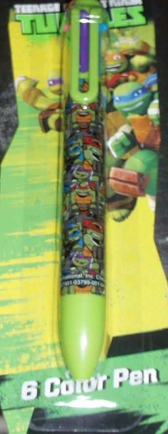 amazon com teenage mutant ninja turtles 6 color pen office products