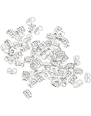 Kare and Kind 3.5mm Metal Earring Backs, Pack of 200 - Retail Packaging