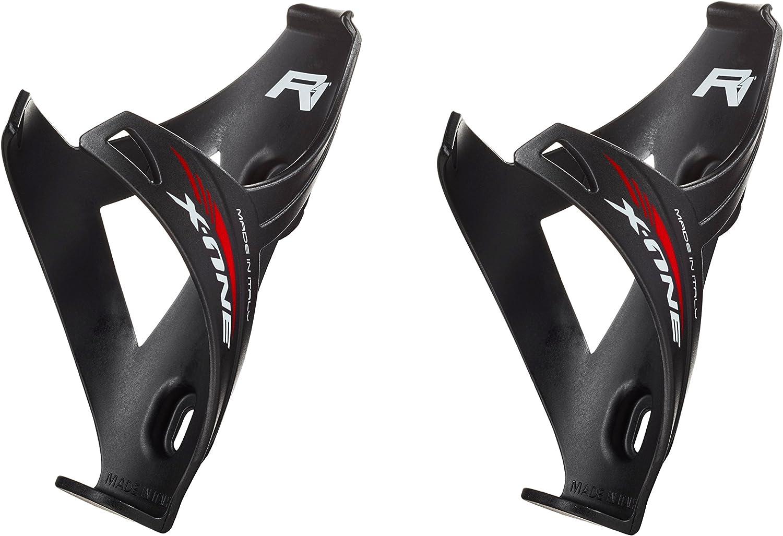 Raceone.it - Double X1 Matt Porta Bidon Bici Carrera de Ruta/Bicicleta de Montaña MTB/Gravel Bike. Color: Negro 100% Made IN Italy