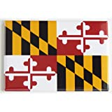 Maryland State Flag Fridge Magnet (2 x 3 inches)