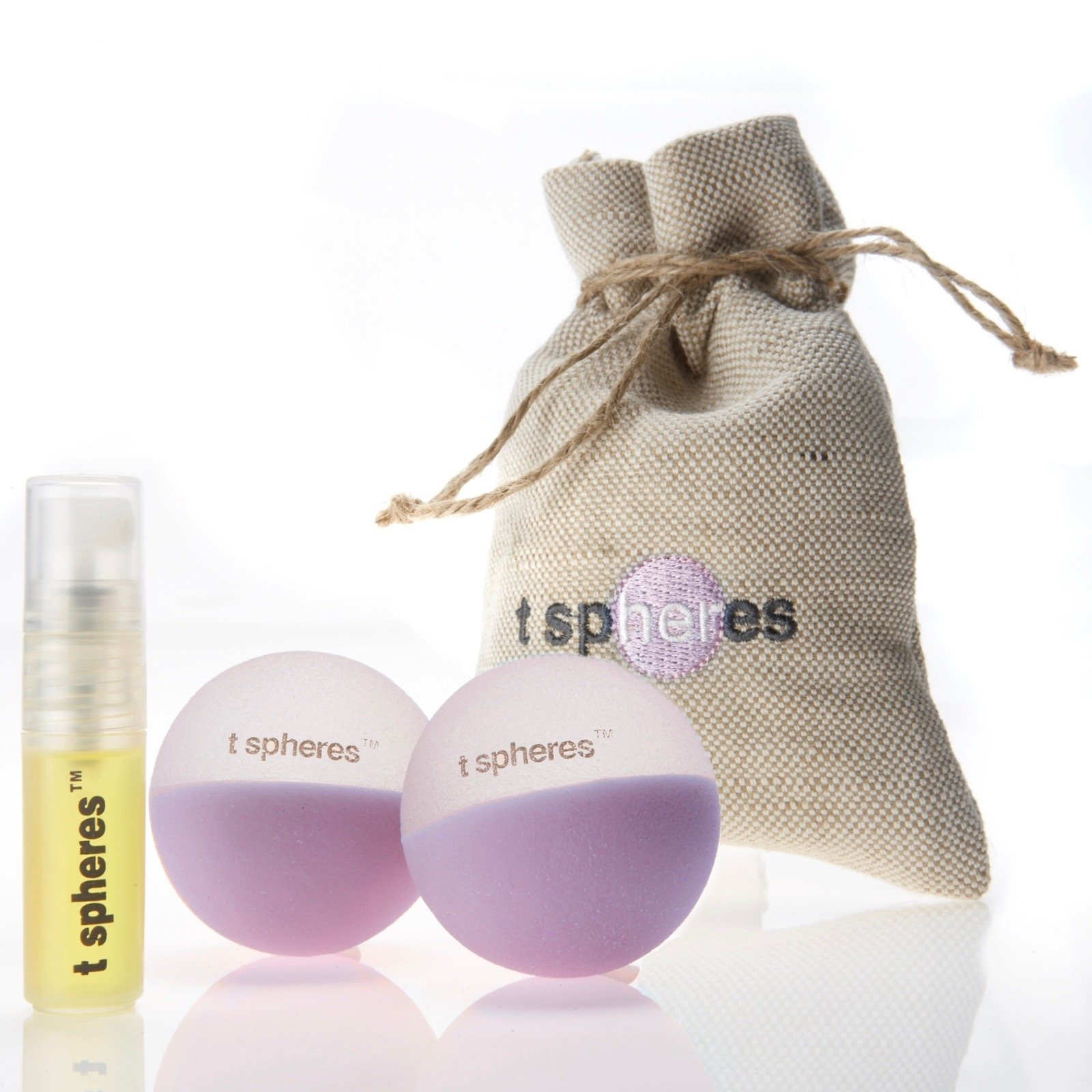 T Spheres Peace & Quiet, Aromatherapy Infused Massage Ball Set (Lavender Aroma), 45mm (Golf Ball Size)