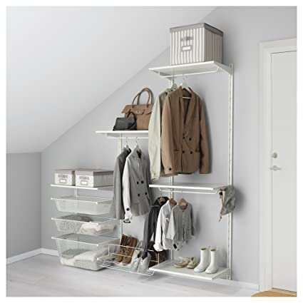 IKEA Algot - pared vertical / estantes / varilla blanca ...
