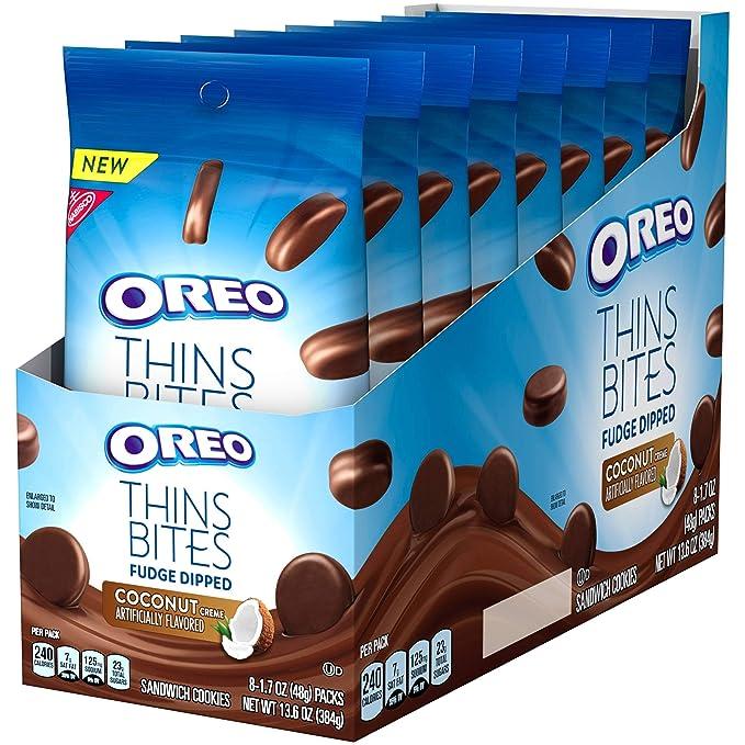 Oreo Thins Bites, Galleta fresca de chocolate - 8 de 48 gr. (Total