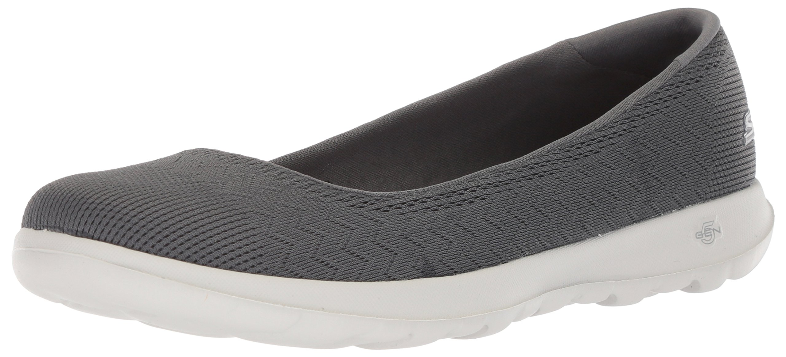 Skechers Performance Women's GO Walk Lite Ballet Flat,Charcoal,6.5 M US