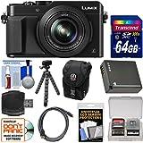 Panasonic Lumix DMC-LX100 4K Wi-Fi Digital Camera (Black) with 64GB Card + Case + Battery + Flex Tripod + Kit