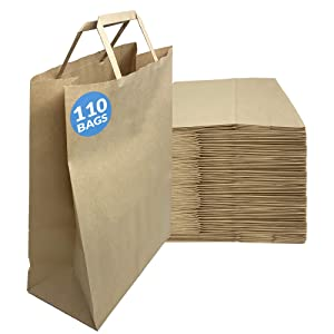 Reli. Paper Bags w/Handles | 110 Pcs, Bulk | 10