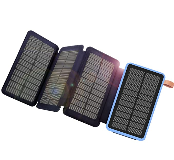 Solar Panel Battery Bank >> Solar Charger 10000mah Portable Solar Power Bank Dual Battery Bank