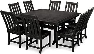 product image for POLYWOOD Vineyard 9-Piece Dining Set (Black)