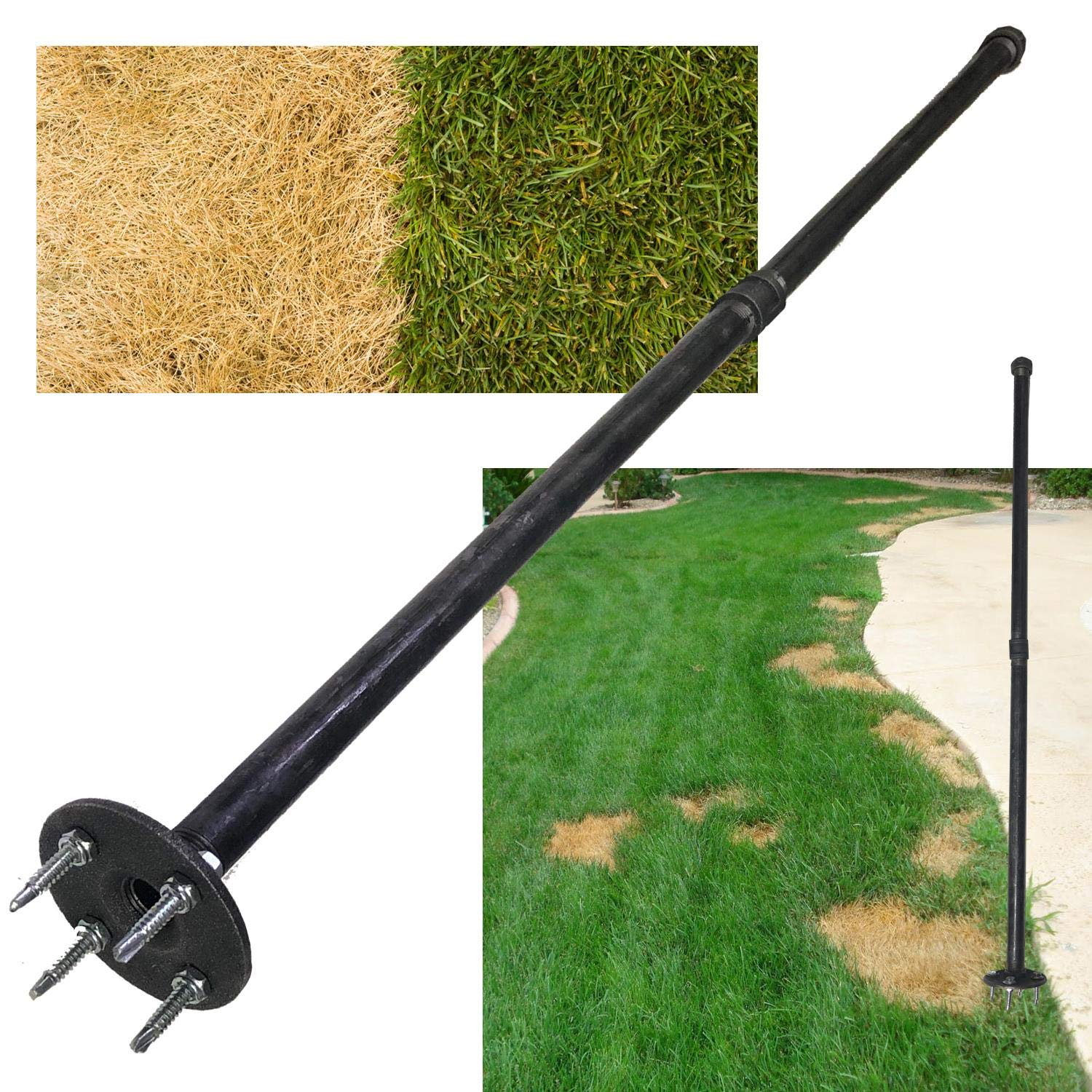 Keyfit Tools Grass Seed SPIKER Dog Spot & Bare Spot Seeding Tool. Get The Most Seed Germination with All Types of Seed & Patch Scotts EZ Seed Repairs Dead Spots Dog Damage Lawn Turf & Grass Repair by Keyfit Tools